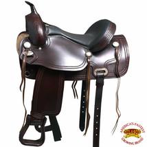 U-O105 15 16 17 18 Western Horse Saddle Leather Treeless Pleasure Trail  Hilason - $479.95