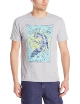 G.H. Bass & Co. NEW Mens Sunsent Cove Crewneck T Shirt Small S Light Gre... - $5.95