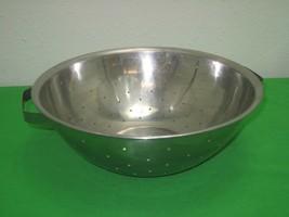Stainless Steel Kitchen Colander Strainer Drainer Rice Pasta Korea Flat ... - $12.16