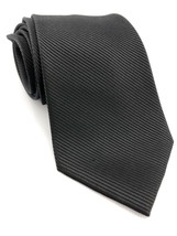 Mens Perry Ellis Portfolio Black Neck Tie Fine Stripe Made From 100% Fin... - $13.99