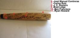Roy Doc Holliday Ryan Howard Chase Utley Philadelphia Phillies team sig... - $432.00