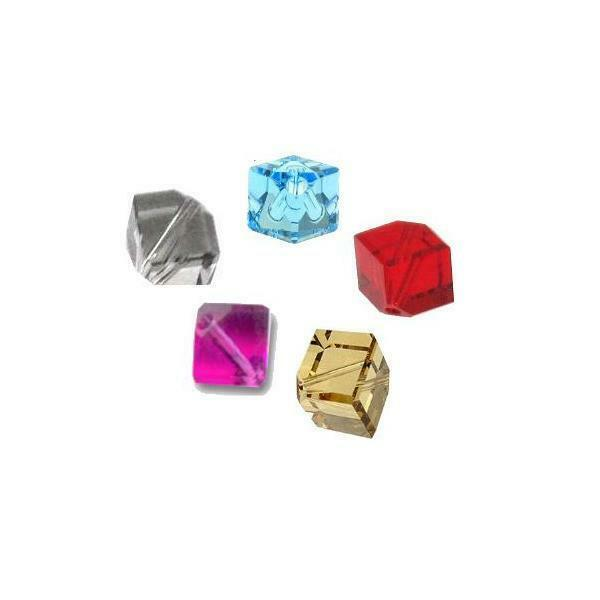 4pcs - 4mm Swarovski Crystal Diagonal Cube Beads #5600 - You Choose The Color