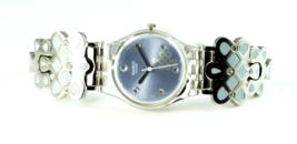 """Retro Women's Swatch Swiss Periwinkle Blue AG2006 Enamel Steel Band 7"""" Wrist - $44.54"""