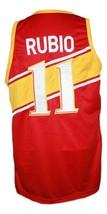 Ricky Rubio Team Spain Espana Basketball Jersey New Sewn Red Any Size image 4