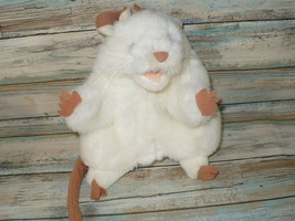 "Folkmanis White MOUSE RAT Hand Puppet Plush 7"" ... - $18.99"