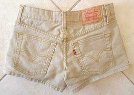 Levis Jean Short Shorts 0 JR-Wheat Khaki Beige Tan-Stretch - $18.69