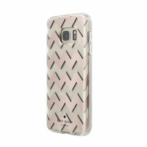 NEW Kate Spade Hardshell  Case for Galaxy S7 Chevron Rose Gold - $9.89