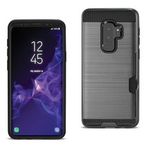 Reiko Samsung Galaxy S9 Plus Slim Armor Hybrid Case With Card Holder In ... - $7.91