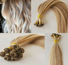 20″ Hand-Tied Weft Hair, 100 grams,100% Human Remy Hair Extensions # 27/613 - $202.94