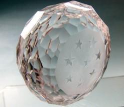 Hand cut glass  paperweight stars - $36.47