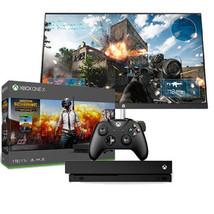 "Xbox One X 1TB PUBG Console + HP N270h 27"" Edge to Edge Full HD Gaming Monitor - $720.00"