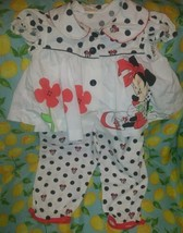 Vtg Disney Minnie Mouse 2 Piece Little Girls 18-24 Months Set As Is Play Cond - $81.83