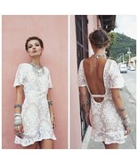 FOR LOVE AND LEMONS SAN MARCOS LACE MINI DRESS SIZE MEDIUM  - $78.21
