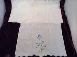 Antique Set of Four Embroidered Floral Hand Towels image 5
