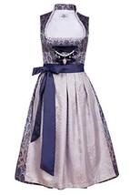 Edelnice Trachtenmode Bavarian Women's Designer Midi Dirndl Marianna Dress 2-Pie - $177.63