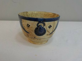Very Old Chinese Export Blue and White Pottery Rice Bowl? - $24.95