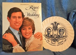 Invitation To A Royal Wedding Prince Charles Princess Diana & Wedding Plate - $27.05