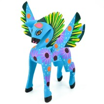 Handmade Alebrijes Oaxacan Wood Carving Painted Folk Art Pegasus Horse Figurine image 2