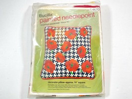 Bucilla Needlepoint Poppies Moderne Pillow Kit #4670 New And Factory Sealed - $29.99