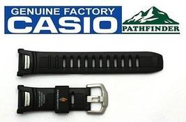 Casio Pathfinder Paw-1500 16mm Original Schwarze Gummi-Armbanduhr Band Armband - $62.31