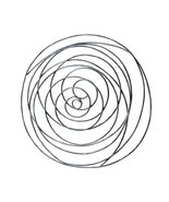 Grand Spiral Abstract Wall Decor-Silver - $49.99