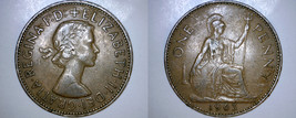 1963 One Penny World  Coin - Great Britain - UK - England - $2.49