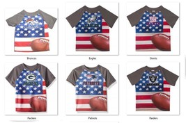 NFL T-Shirt Flag Design Short Sleeve Gerber Youth Select Team and Size B... - €14,83 EUR