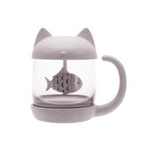 Cat Tea Infuser Mug Teapot For Tea & Coffee Filter Drinkware Kitchen Tools - £16.58 GBP