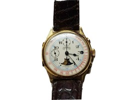 Vintage Ghurka Limited Edition #319/500 17 Jewel Swiss Chronograph Watch Runs - $2,295.00