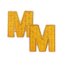 "Mickey Memories Disney Lapel Pin: Gold ""M"" Monogram  - $8.90"