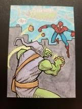 2017 Fleer Ultra Spider-Man/Green Goblin Sketch Card 1 of 1 Artist Eddie P - $300.00