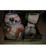 """Star Wars Lot of BB-8 and D-O Collectible 7"""" Plushes with Enamel Pin NEW - $19.79"""
