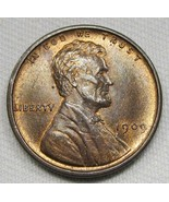 1909 V.D.B. Lincoln Wheat Cent CH UNC Red & Brown Coin AE759 - $25.09