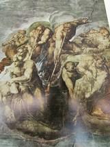 Vintage Michelangelo The Last Judgement Judgment Color Print 51664 Islan... - $24.74