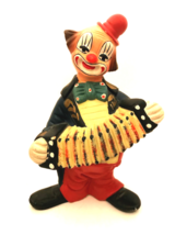Norleans Vintage Clown Figurine Playing the Accordian Musician Made in P... - $13.86