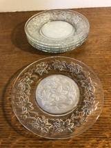 """Set of 5 Princess House Fantasia 8"""" Luncheon Plates Frosted Center - $18.99"""