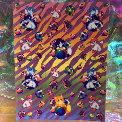 Lisa Frank Complete Sticker Sheet S215Zebra Print Butterflies Kittens Balloons