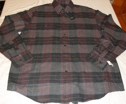 Men's Arrow Long Sleeve Button Front Shirt LARGE Hunting Plaids NEW - $34.64