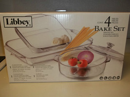 Libbey 4 Piece Glass Bakeware Set ~ New In Box - $49.49