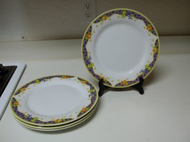 Allied Imex Inc  Monte Carlo ~ Set of 4 Dinner Plates ~ 10 1/2 Inch Floral - $46.52