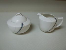 Mikasa Maxima Composure ~ Creamer & Sugar Bowl With Lid - $39.59