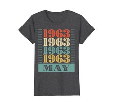 Funny Shirts - Retro Classic Vintage May 1963 55th Birthday Gift 55 yrs ... - $19.95+