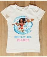 Moana Birthday Shirt, Personalized Moana Birthday Shirt with Name and Age - $11.99