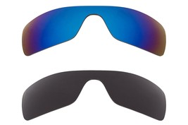 New SEEK OPTICS Replacement Lenses Oakley BATWOLF - Black Blue - $34.12