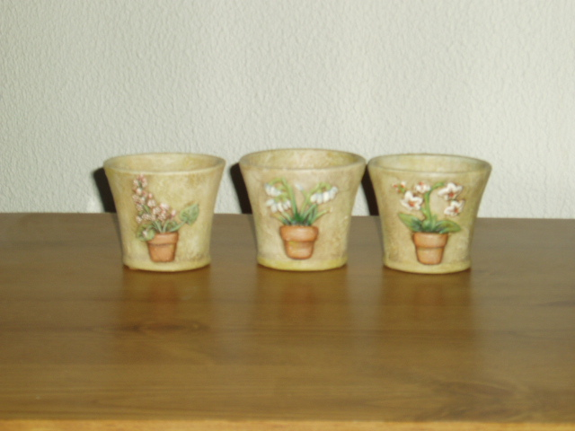 Partylite Terrace Blossom Trio RETIRED Party Lite