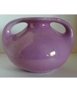 Mid Century Pink Pottery Vase/Planter // Iridescent Pink Urn Shaped Vase - $12.00