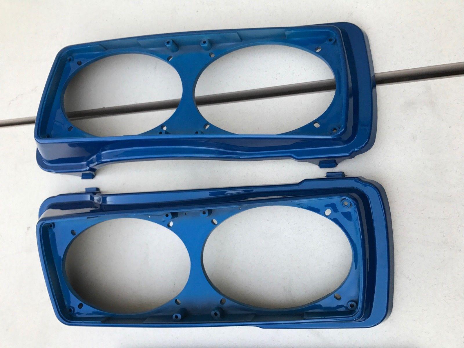 Dual Speaker Lids in Rich Sunglo Blue for Harley HD Street Glide Road King