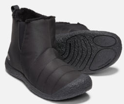 Keen Howser Tamaño Medio 10M (D) Eu 43 Hombre sin Cordones Botas de Moda Negro