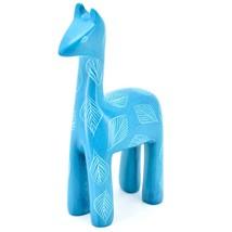 Tabaka Chigware Hand Carved Kisii Soapstone Light Blue Llama Figurine Kenya image 2