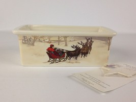 Hallmark Christmas Ceramic Loaf Pan with Pick Merry Times - $246,99 MXN